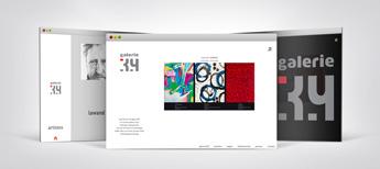Galerie39 Webseitenprojekt in einer GIF Animation